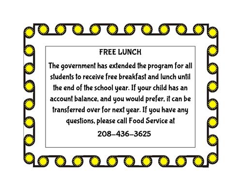 Free-Reduced Lunch Flyer