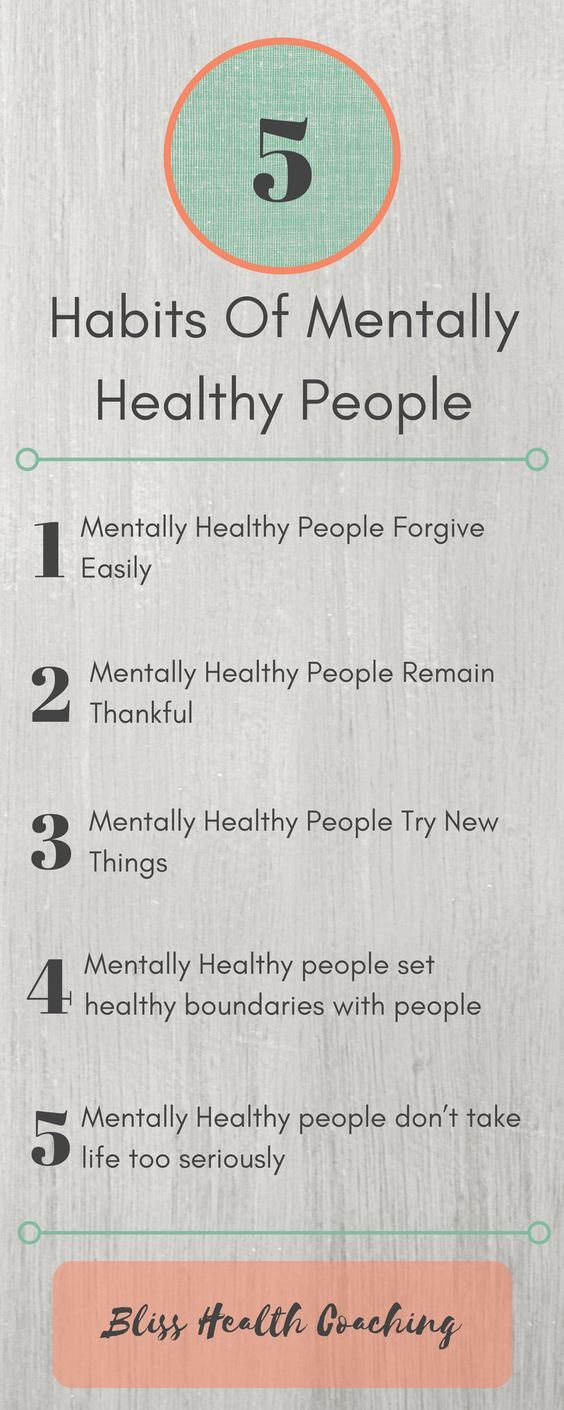 5 habits of healthy people