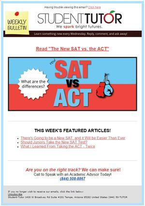Bulletin for SAT-ACT info